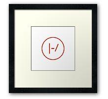RED Minimalistic Twenty One Pilots Logo Framed Print