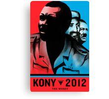 "Kony 2012 ""The Worst War Criminal"" Poster Canvas Print"