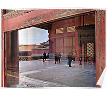 Reflection, Forbidden City, Beijing, China Poster