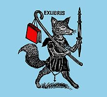 Ex Libris with Fox and Book by Greenbaby