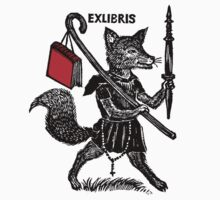 Ex Libris with Fox and Book Kids Tee