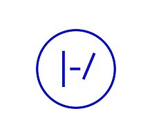 BLUE Minimalistic Twenty One Pilots Logo by bandsandcrap