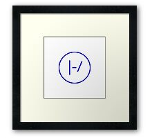 BLUE Minimalistic Twenty One Pilots Logo Framed Print