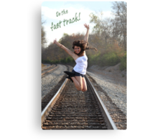 On the Fast Track Metal Print