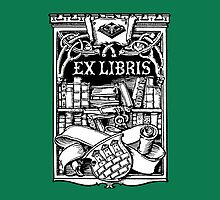 Ex Libris with Library and Shield by Greenbaby