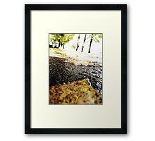 Wet Cement Framed Print