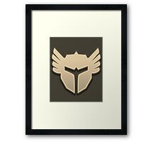 Guild Wars 2 Inspired Warrior logo Framed Print