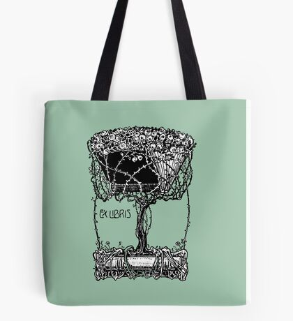 Cool Antique Bookplate Art Tote Bag