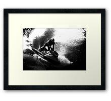 Jet ski splashing Framed Print
