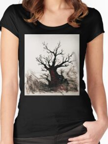 Cherry Blossoms on the Edge Women's Fitted Scoop T-Shirt