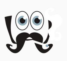 face big eyes and huge moustache smoking Baseball One Piece - Short Sleeve