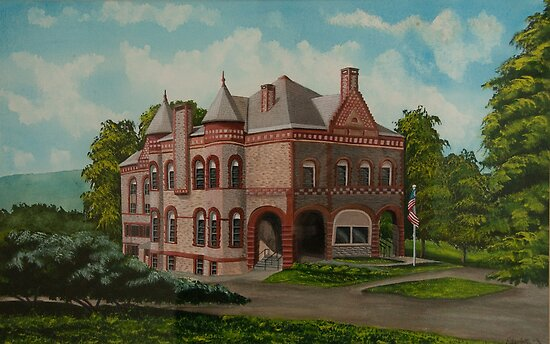 Administration Building by Charlotte  Blanchard