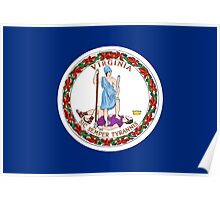 State Flags of the United States of America -  Virginia Poster