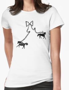 Horse Ribbon Bows Womens Fitted T-Shirt