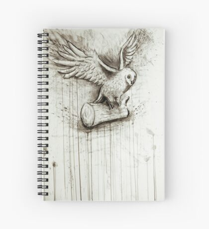 Owl Takes Off Spiral Notebook
