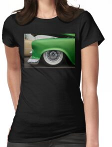 Green Suede Womens Fitted T-Shirt