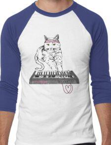Synth Cat - Moggie Men's Baseball ¾ T-Shirt