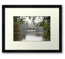 Pedestrians on the bridge Framed Print