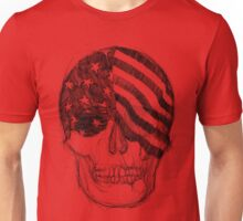 USA Skull Sketch Unisex T-Shirt