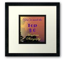 Top 10 Challenge Winner Banner Framed Print