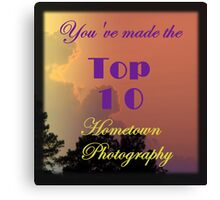 Top 10 Challenge Winner Banner Canvas Print