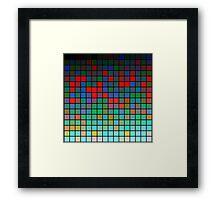 Color Grid 01 Framed Print