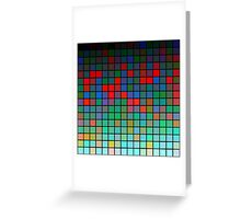 Color Grid 01 Greeting Card