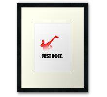 Shia LaBeouf Stretching Nike Framed Print
