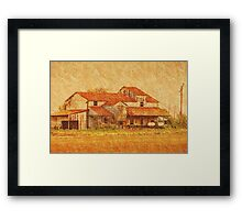 Farming the Delta - Cotton Barn Framed Print