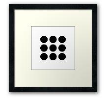 Twenty One Pilots BLURRYFACE Circles Framed Print