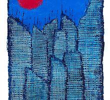 Buildings and Red Sun-1 By VERNON SULLIVAN by vernonsullivan