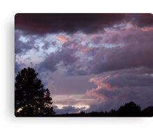 Purple Storm Silhouette Canvas Print