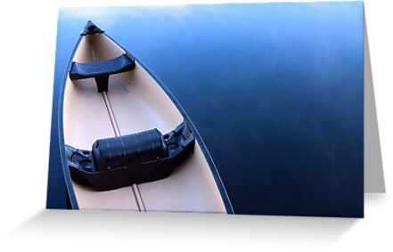 Canoe on Kennebec Lake, Arden Ontario by Debbie Pinard