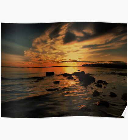 Sunrise On The St. Mary's River Poster