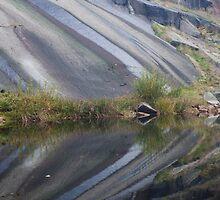 Granite And Pond 5 by Benjamin Sharp