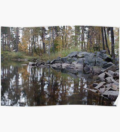 Granite And Pond 6 Poster