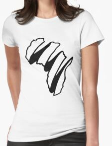 Simple Africa Design Womens Fitted T-Shirt