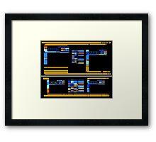 Star Trek TNG: Console Panel Framed Print