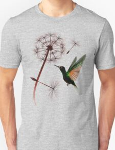 Dandelion and Little Green Hummingbird Unisex T-Shirt