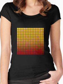 Color Grid 02 Women's Fitted Scoop T-Shirt