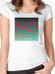 Color Grid 01 Women's Fitted Scoop T-Shirt