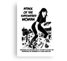 Attack of the empowered woman V2 - Naturally Defective Canvas Print