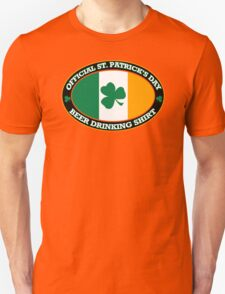 Official St Patricks Day Beer Drinking T-Shirt
