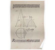 Measurement With Compass Line Leveling Albrecht Dürer or Durer 1525 0039 Ray Segmentation Poster