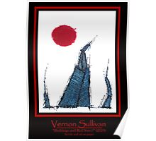 Buildings and Red Sun-5-Publicity poster-2 By VERNON SULLIVAN Poster