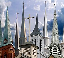 Nine Steeples- Must View Large to See All 9 by BCallahan