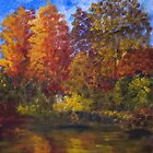 Autumn Impression, On the Lagan by Les Sharpe