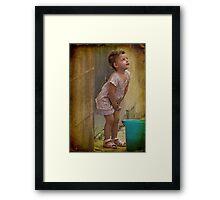 Little girl in Valletta, Malta. Framed Print