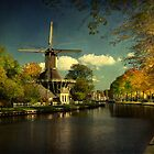 Autumn Glow on Dutch Windmill by AnnieSnel