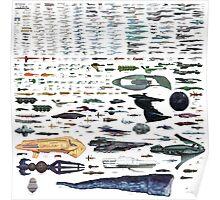 Star Trek Universe Spaceship Size Chart Poster